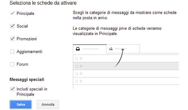 """Gmail: come attivare la nuova interfaccia della casella """"Posta in arrivo"""" (step 2)"""