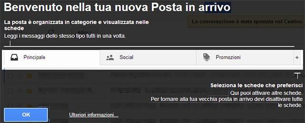 """Gmail: come attivare la nuova interfaccia della casella """"Posta in arrivo"""" (step 3)"""
