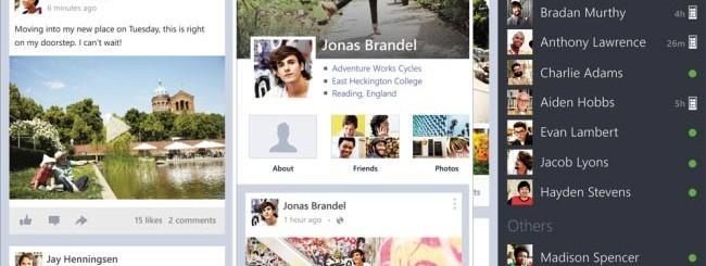Facebook 5.0 per Windows Phone 8