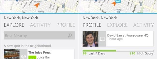 Foursquare per Windows Phone 8