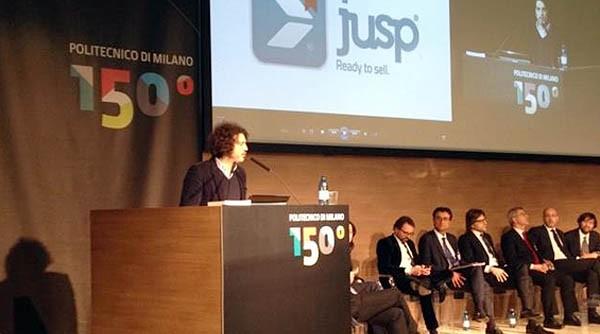 Jacopo Vanetti, cofounder di JUSP, a una conferenza.