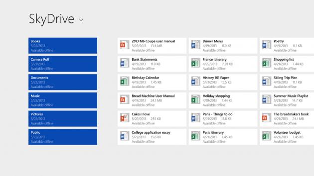 Windows 8.1 salverà i file direttamente su SkyDrive.
