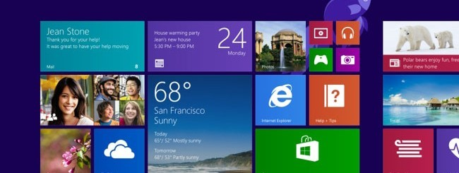 Start screen Windows 8.1