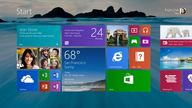 Wallpaper per lo Start screen di Windows 8.1.