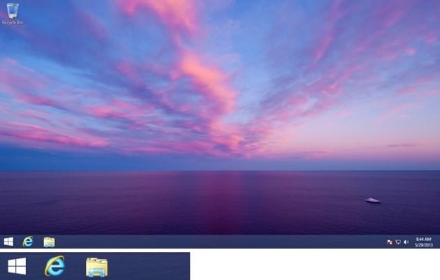 Ecco il pulsante Start presente in Windows 8.1.