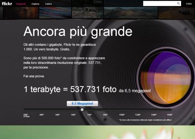 La nuova homepage di Flickr