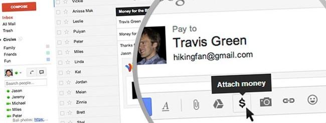 Google Wallet in Gmail