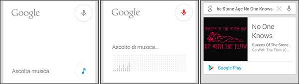 Da oggi Google Now può riconoscere le canzoni ascoltate e mostrare un link per l'acquisto su Play Store