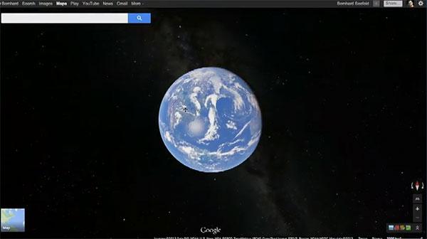 La Terra vista con la nuova versione di Google Maps