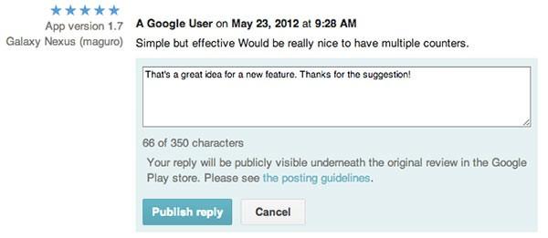 Google Play: da oggi tutti gli sviluppatori possono rispondere alle recensioni degli utenti