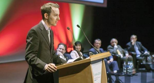 Alessandro Levi, di SEM+, alla premiazione a Dublino.