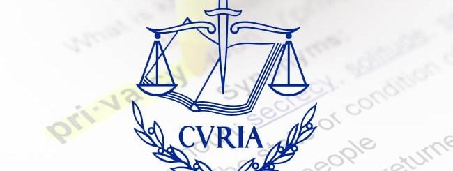 Corte Giustizia Europea Google