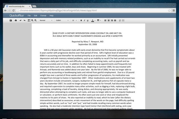Editing documenti Word in Chrome OS