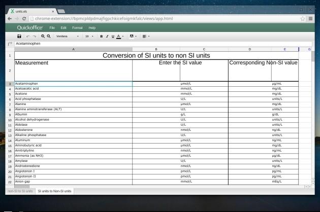 Editing fogli di lavoro Excel in Chrome OS