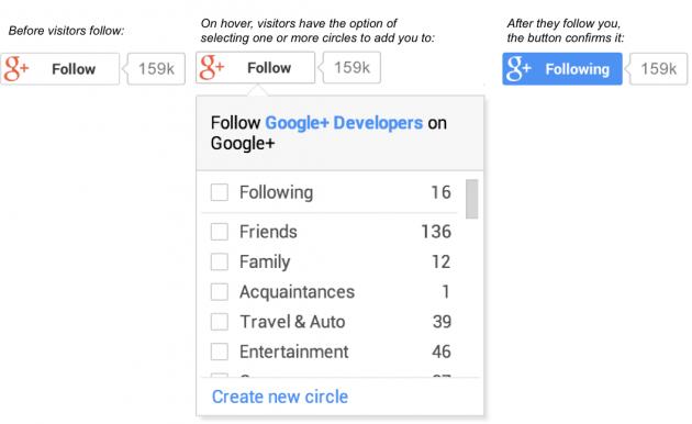 Pulsante Segui di Google+