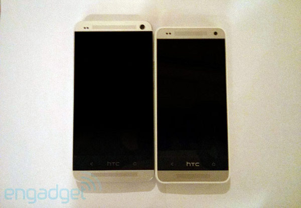 HTC One e il presunto HTC One mini fianco a fianco