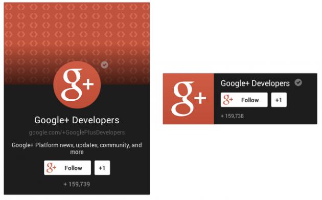 Badge per le Pagine Google+