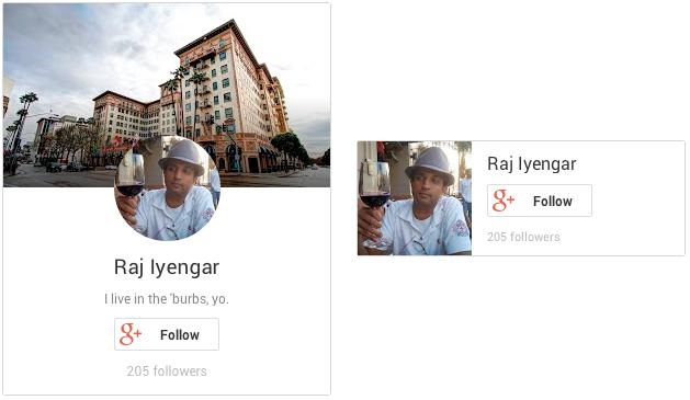 Badge per i Profili Google+