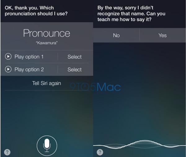 Siri e la pronuncia dei nomi in iOS 7