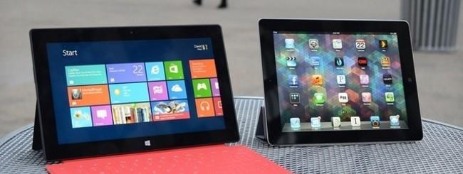 Surface e iPad