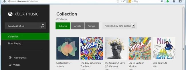 Xbox Music (versione web)