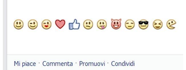 emoticon facebook barra stato