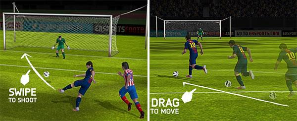 La versione mobile di FIFA 14 sfrutterà al meglio l'interazione con i display touchscreen