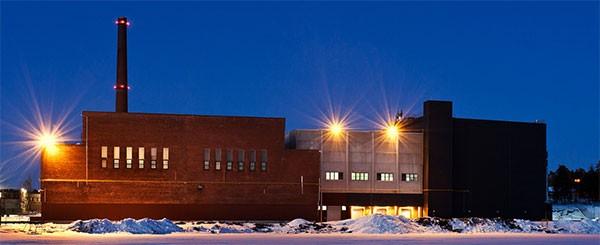 La sede Google di Hamina, sul Golfo di Finlandia ghiacciato