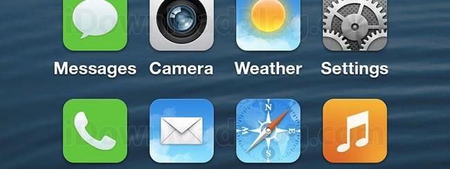Mockup di iOS 7