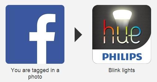 Esempio di if-then-else: la lampadina lampeggia se si viene taggati su Facebook