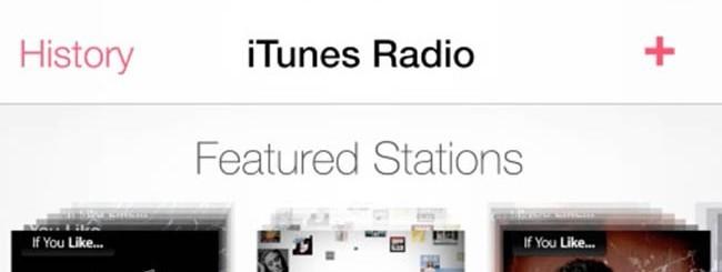iTunes Radio su iOS 7