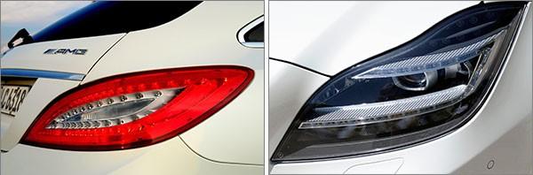 Alcuni dei fari LED equipaggiati dalle automobili Mercedes-Benz