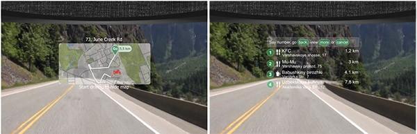 LiveMap visualizza le informazioni sulla visiera del casco, in trasparenza, evitando così distrazioni per i motociclisti
