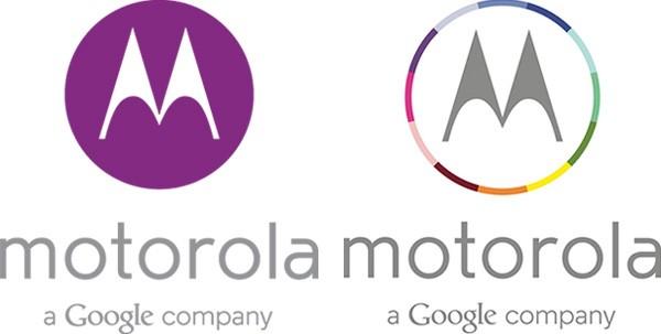 """II nuovo logo di Motorola, con la scritta """"a Google company"""" che richiama l'acquisizione da parte di bigG"""