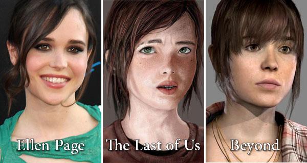 Ellen Page a confronto con le protagoniste dei videogame The Last of Us e Beyond: Two Souls