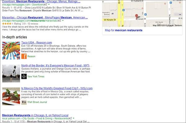 """Il box """"In-depth articles"""" avvistato nelle SERP di Google (Search Engine Land)"""