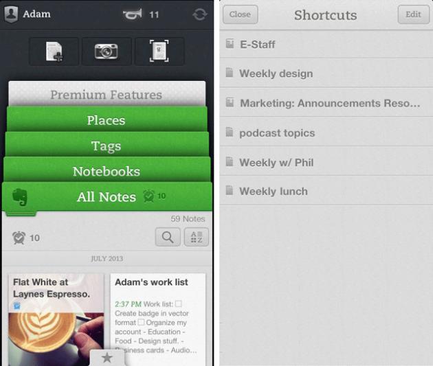 La nuova scheda per gli Shortcuts.