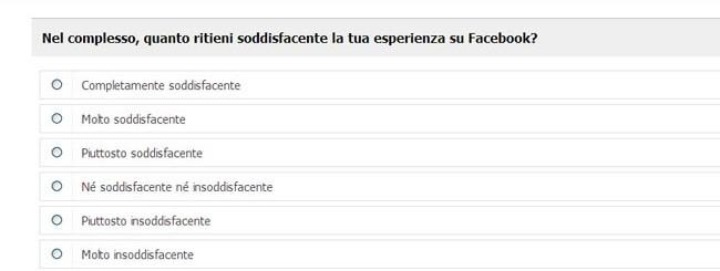 Facebook sondaggio