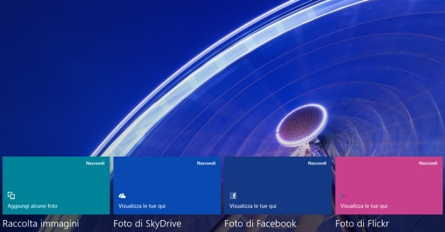 App Foto inclusa in Windows 8.