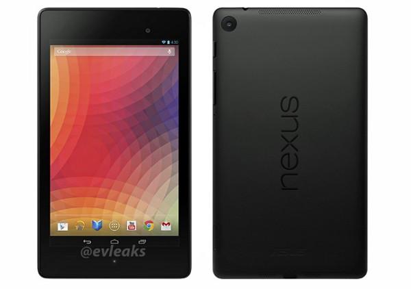 Fronte e retro del nuovo Nexus 7