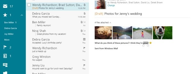 Mail in Windows 8.1