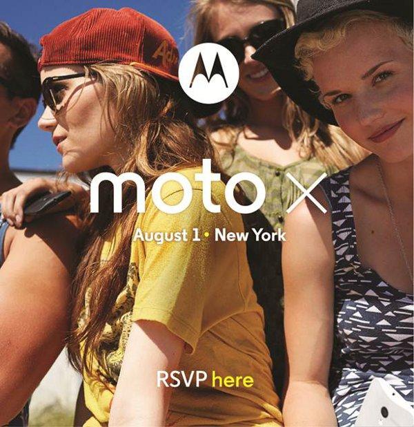 Moto X, immagine promozionale dell'evento di New York