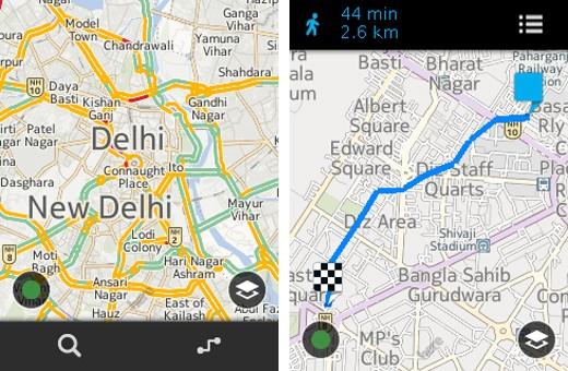 Nokia HERE Maps su Asha 501.