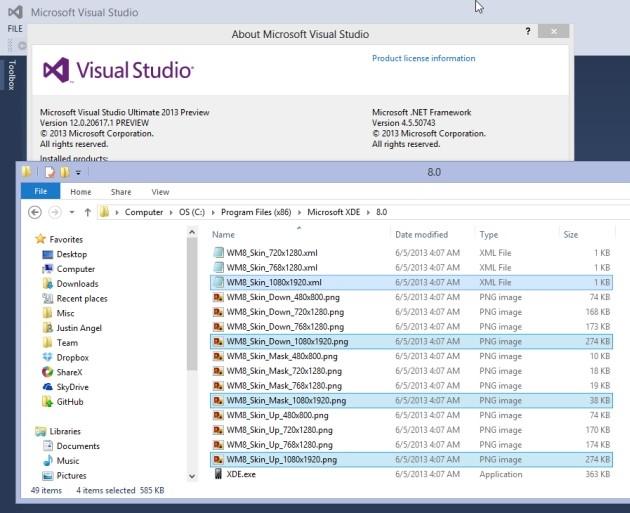 I file inclusi in Visual Studio 2013 che svelano l'arrivo del supporto full HD in Windows Phone 8.