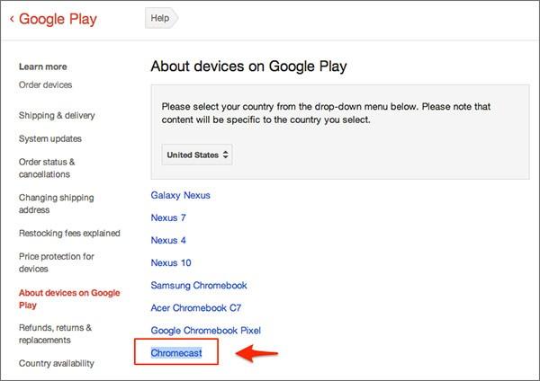 Il dispositivo Chromecast è comparso nell'elenco di quelli compatibili con Google Play