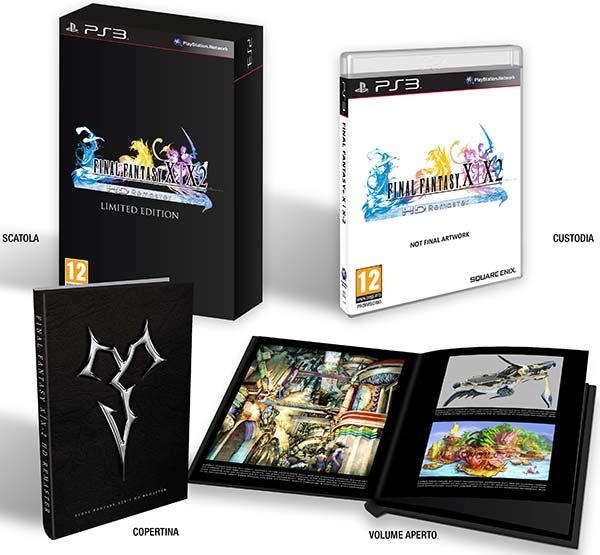 L'edizione standard e e quella limitata con artbook di Final Fantasy X | X-2 HD Remaster