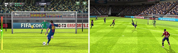Screenshot per la versione di FIFA 13 riservata agli smartphone Windows Phone 8 di Nokia