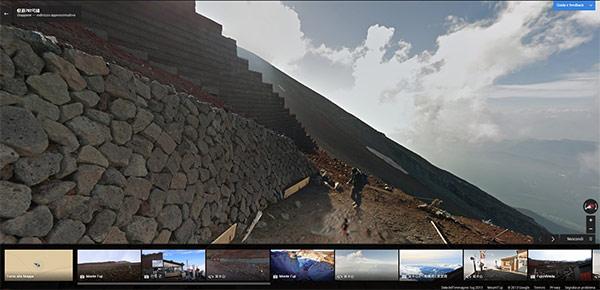 Le immagini panoramiche a 360 gradi del Monte Fuji catturate dal team di Google per Street View