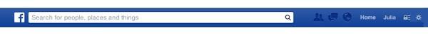 L'header di Facebook aggiornato con Graph Search cambia e compare uno spazio dove inserire la propria domanda. I risultati personalizzano il feed della home page.