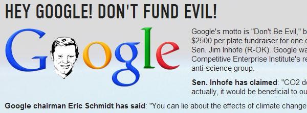 """La petizione """"Hey Google! Don't fund evil!"""" lanciata da Forecast the Facts"""